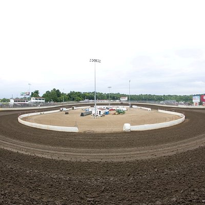 I-55 Raceway from outside Turns 1&2