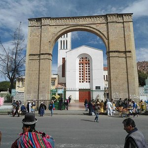 Front gate to the cemetery