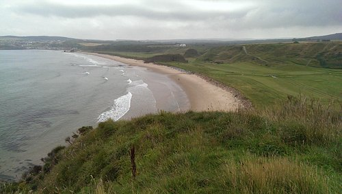Cullen beach from the cliffs.