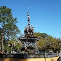 Magnicent fountain at Praça Coronel Pedro Osório