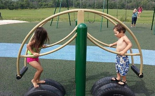 My Grandson befriended a girl while playing here !!!