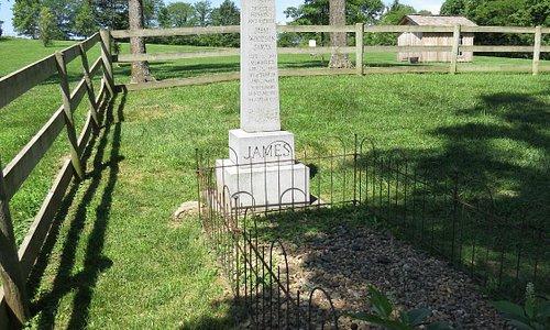 Jesse's first gravesite