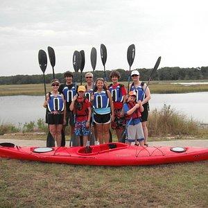 Family kayaking adventure on Egans Creek on Amelia Island