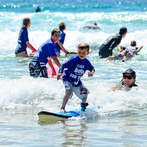 Our beginner surf lessons is available every day from 9 to 11am. Great for all ages!