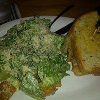 ceasars salad and half rueben
