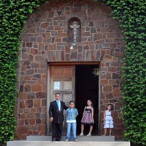 Eu e meus três filhos, Gabriel, Rafaela e Eduarda.