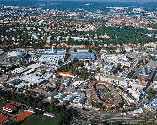 Vystaviste (Fairground) - aerial view