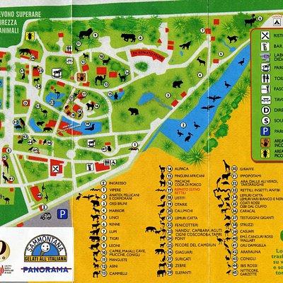 Mappa del Giardino Zoologico