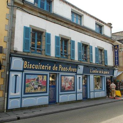 La facciata della 'boutique de la galette'