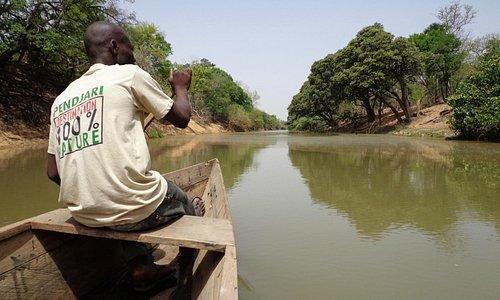 Pendjari national park river on the border with Burkina Faso