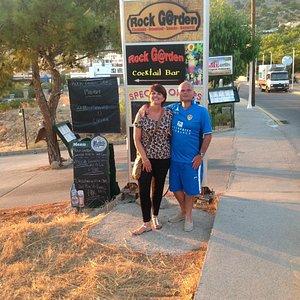 Outside the Rock Garden Bar