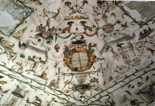 Novellara, Rocca, Soffitto della Sala del Fico