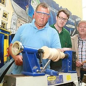 Wood turning at the home of the Claddagh Ring.