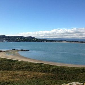 view of Howth from the island