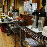 コーヒーとケーキのコーナー