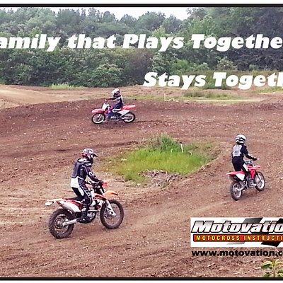 Family based motocross lesson.
