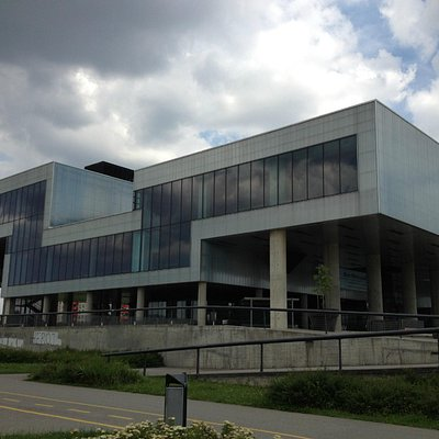 The cavernous Museum of Contemporary Art, Zagreb