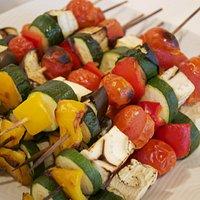 spiedini di verdura alla griglia