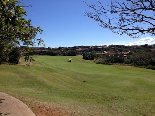 Looking up the 18th Fairway