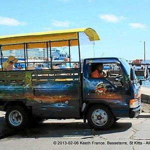 St Kitts Captain Sunshine Open Air Safari Taxi & Tours