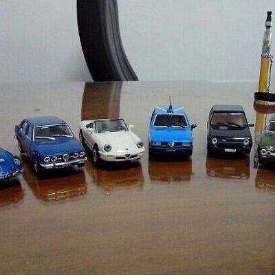 Alfa and Fiat scale model