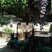 La terraza donde comimos