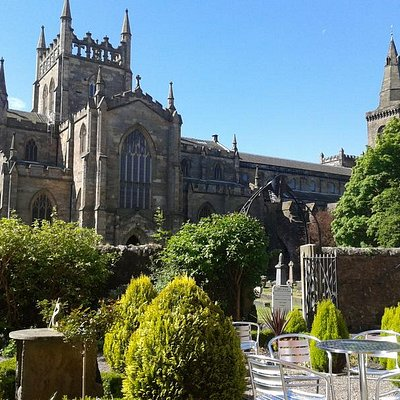 Dunfermline Abbey from Abbots House Tearoom