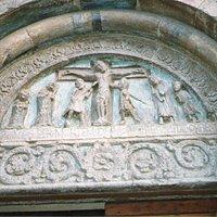 Carpi, La Sagra, lunetta del portale