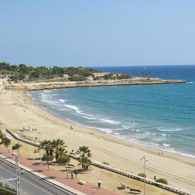 Vista de la playa.