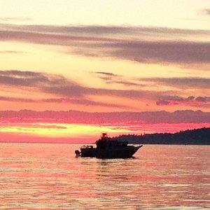 Sunset fishing adventure