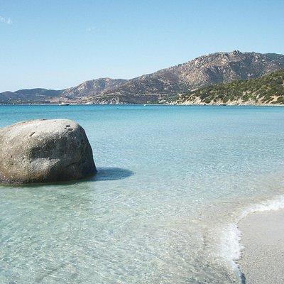 ...e guardate che spiaggia!