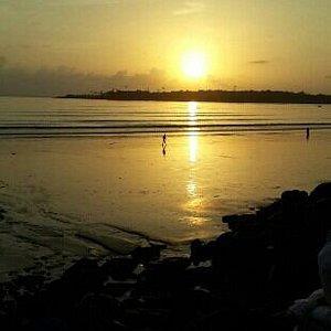 sun set view of versova beach
