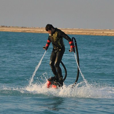 Flyboarding is like learning how to walk! Just find your balance and you're good to go!