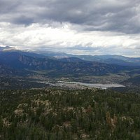 View of Estes Park Lake from the top of Kruger Rock