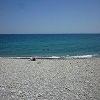 mare dalla spiaggia
