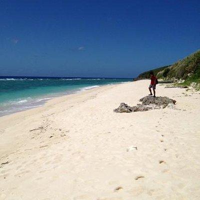 与論島で砂浜が一番綺麗なビーチ