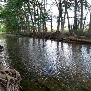 Medina River, as seen from the park outside Bandera along Hwy. 16 heading towards Kerrville
