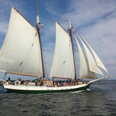 Liberty Clipper under full sail