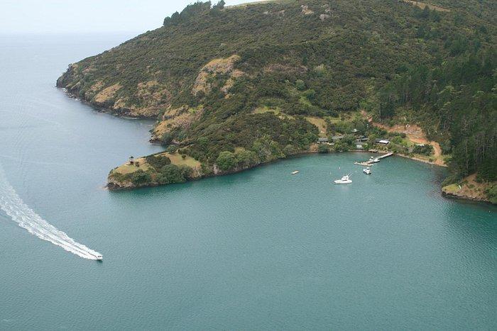 Kingfish Cove and entry to whangaroa harbour