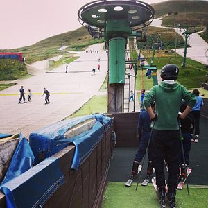 busy day at the ski centre