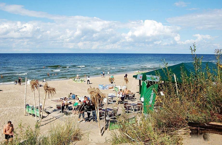 Zejście na plażę w Międzywodziu
