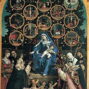 Madonna del Rosario di L.Lotto