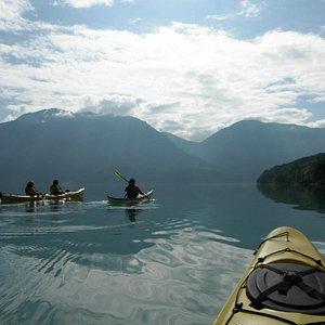 Fjorde Seal kayak i Lusterfjorden
