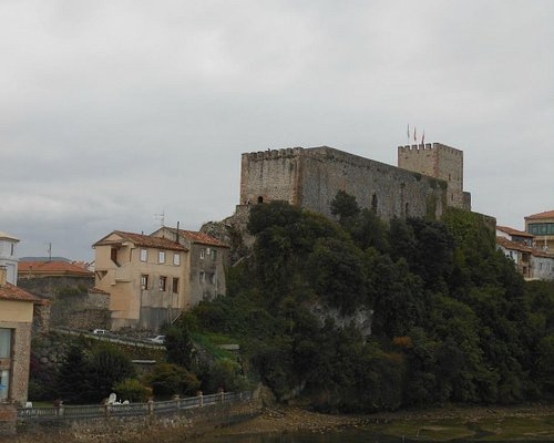 view of the castle from below