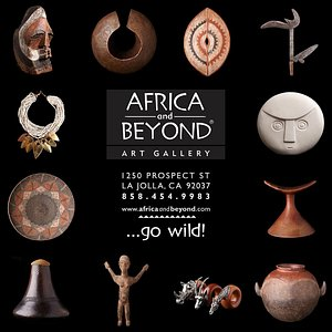 A selection of pieces in Africa And Beyond Art Gallery, La Jolla, CA