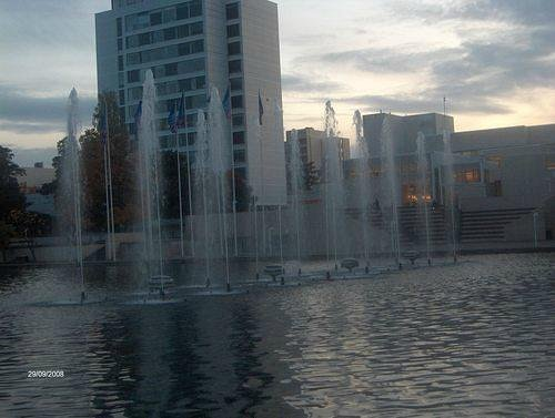 Fountains on the lake