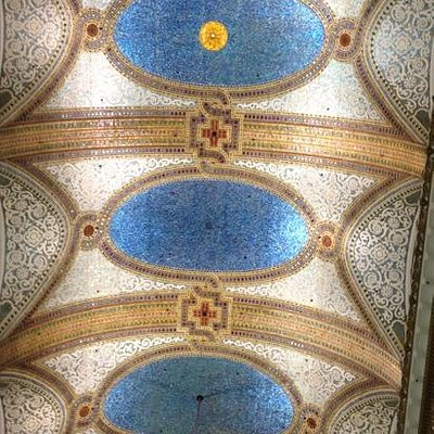 Tiffany ceiling in former Marshall Fields (now Macy's)