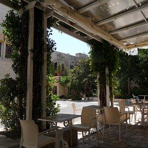 The courtyard terrace.