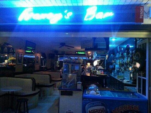 Francy's Bar by night!!