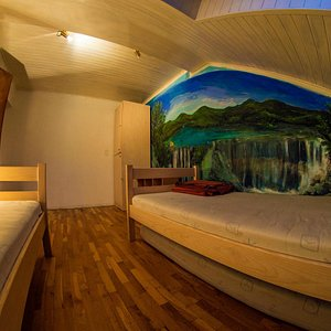 A private room, attic, unfinished wallpainting though :D